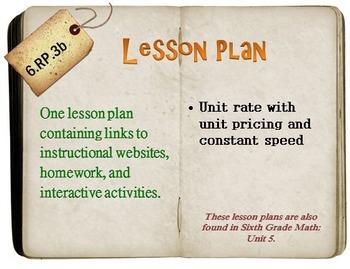 6th Grade Math:  6.RP.3b:  One Lesson Plan