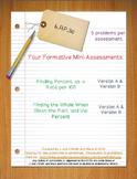 6th Grade Math:  6.RP.3c Mini-Assessments
