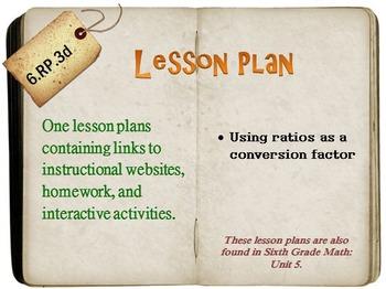 6th Grade Math:  6.RP.3d:  One Lesson Plan