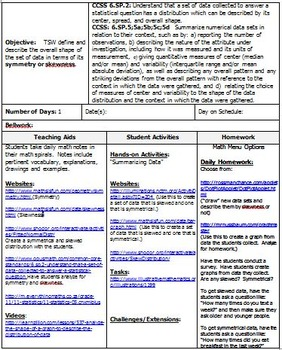 6th Grade Math:  6.SP.2 & 6.SP.3:  Six Lesson Plans