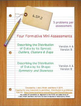 6th Grade Math:  6.SP.2 Mini-Assessments