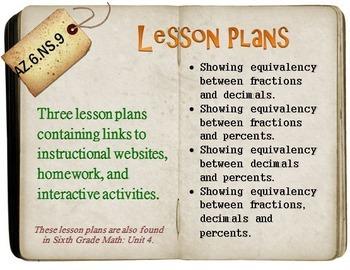 6th Grade Math:  AZ.6.NS.9:  Three Lesson Plans