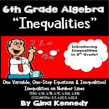 6th Grade Math Algebra, Inequalities