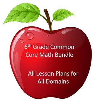6th Grade Math:  All Lesson Plans for All Domains - BUNDLED