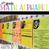 6th Grade Math Alphabet