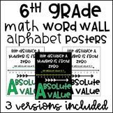 6th Grade Math Alphabet Word Wall