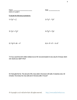 6th Grade Math: Apply and Extend to Algebraic Expressions 30 Worksheets!