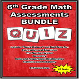 6th Grade Math Assessments BUNDLE