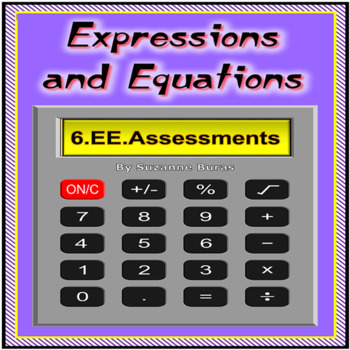 6th Grade Math Assessments BUNDLE