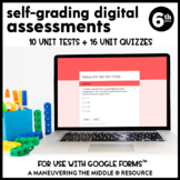 6th Grade Math Assessments for Google Forms (CCSS-Aligned)