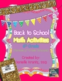 6th Grade Math Back to School Activities