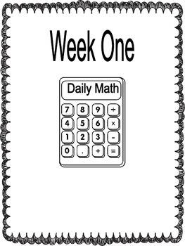 6th Grade Math Bell Ringer, Morning Work, Homework  COMMON CORE 1st 9 Weeks