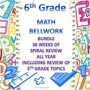 6th Grade Math Bellwork 36 Week Bundle