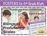 6th Grade Math Bilingual Proficiency Scales - English and Spanish