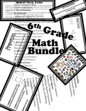 6th Grade Math Bundle
