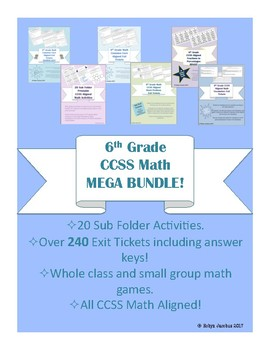 6th Grade Math CCSS Aligned MEGA BUNDLE!