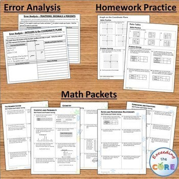 6th Grade Math COMMON CORE BUNDLE Assessments, Warm-Ups, Task Cards, Worksheets
