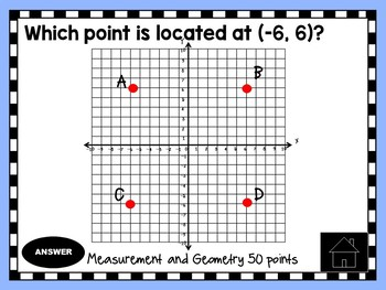 6th Grade Math SOL Category Review Game