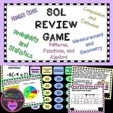 6th Grade Math SOL (2016 standards) Category Review Game