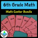 6th Grade Math Center Bundle