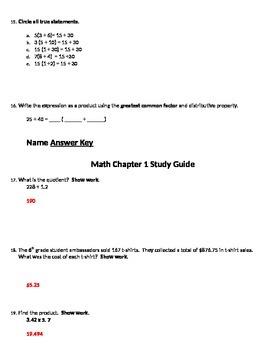 6th Grade Math: Common Core Aligned (Answer Key Included)