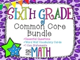 6th Grade Math Common Core Bundle! Everything You Need! *C