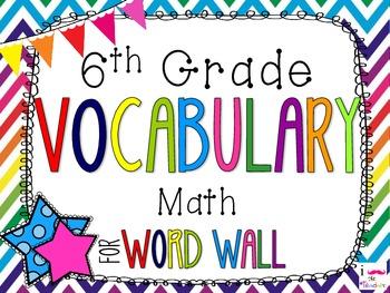 6th Grade Math Common Core Bundle! Everything You Need! *Rainbow Chevron*