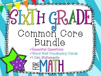 6th Grade Math Common Core Bundle! Everything You Need! *Zebra Print*