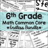 6th Grade Math Common Core Endless Growing Bundle