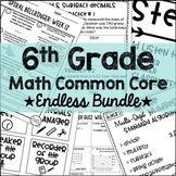 6th Grade Math Common Core GROWING Bundle