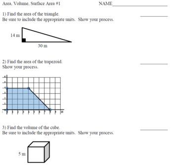 6th Grade Math Common Core Formative Assessments
