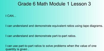 6th Grade Math Common Core Module 1 Smart Notebook Lessons