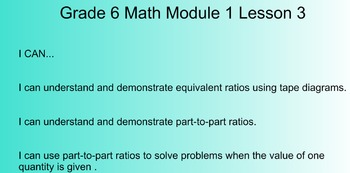 6th Grade Math Common Core Module 1 Smart Notebook Lessons