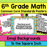 6th Grade Math Common Core Posters- Emoji