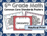 6th Grade Math Common Core Posters- Nautical