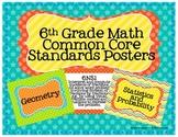 6th Grade Math Common Core Posters- Star Design!