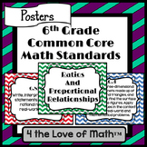 6th Grade Math Common Core Standard Posters {Chevron}