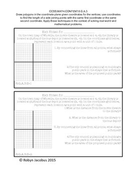 6th Grade Math Common Core Standards Exit Tickets for EE, G, and SP