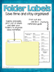 6th Grade Math Common Core Standards Folder Labels
