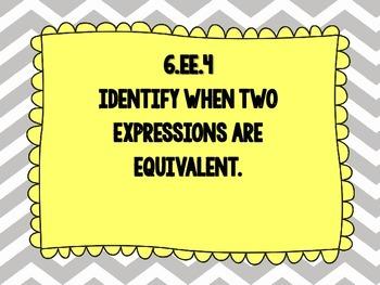 6th Grade Math Common Core Standards - grey chevron