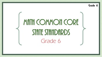 6th Grade Math Common Core State Standards Flashcards