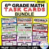6th Grade Math SKILLS FLUENCY & WORD PROBLEM TASK CARDS {BUNDLE}