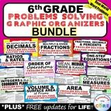 6th Grade Math WORD PROBLEMS Graphic Organizer BUNDLE Back to School