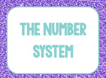 6th Grade Math Common Core Word wall - glitter pink purple turquoise blue