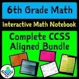 6th Grade Math Complete Interactive Bundle