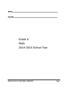 6th Grade Math Comprehensive Test