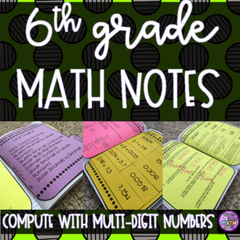6th Grade Math - Compute with Multi-Digit Numbers Notes