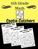 6th Grade Math Cootie Catchers