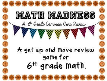 6th Grade Math Cumulative Review Game