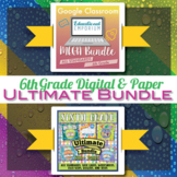 6th Grade Math Curriculum Bundle ⭐ Digital and Paper ⭐ Google and PDF Formats